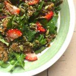 Strawberry Quinoa Salad + Balsamic Dressing