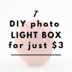 DIY Photo Light Box for $3