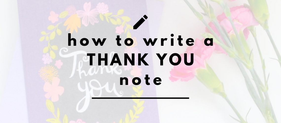 thank you note header