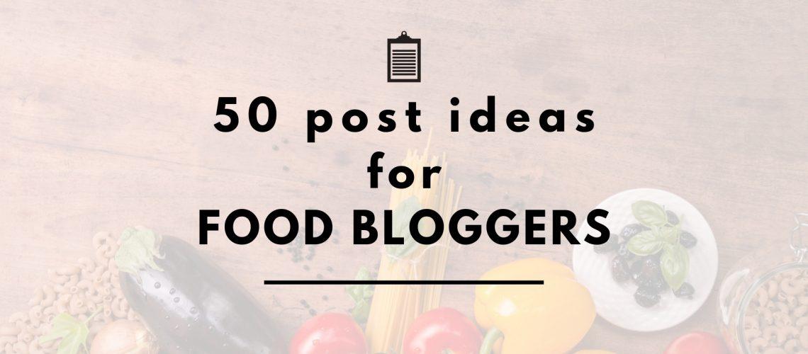food blog ideas header