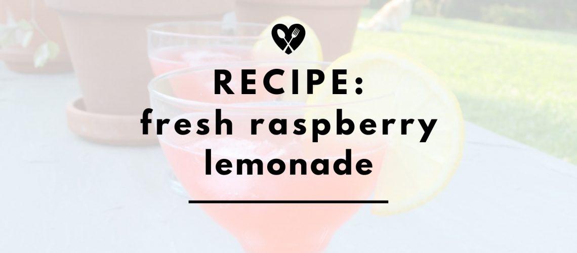 raspberry lemonade header