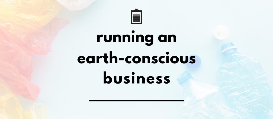 running an earth conscious business header